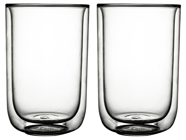 Double Wall Glass Fika 400ml S/2 Sparkle Gift