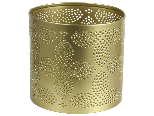 Tealight Holder Flower 9.5cm Gold Sparkle Gift