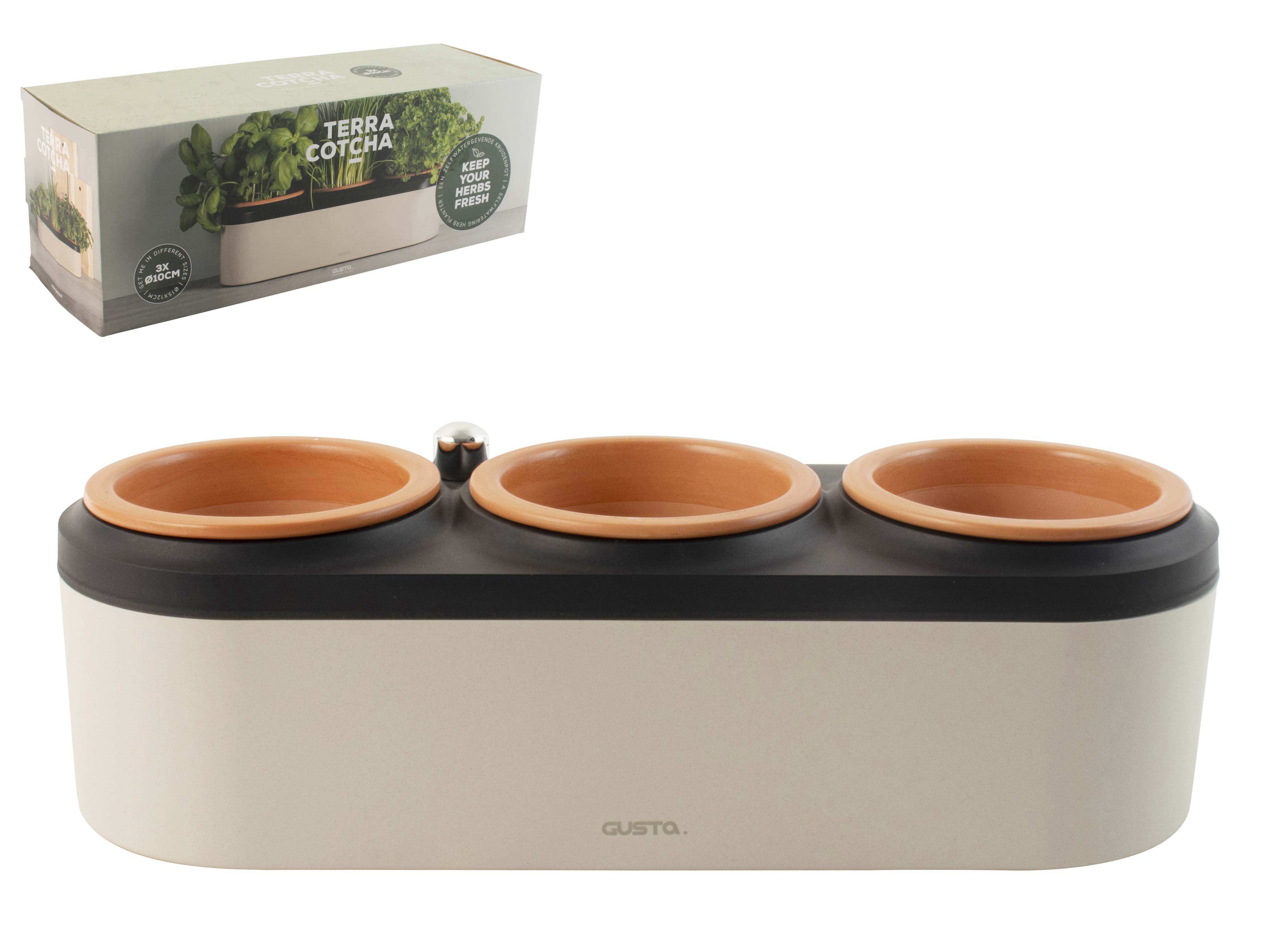Terrac Herbal Planter X3 Sparkle Gift