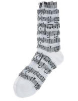 Socks Womens Sheet Music Keyboard Black White Sparkle Gift