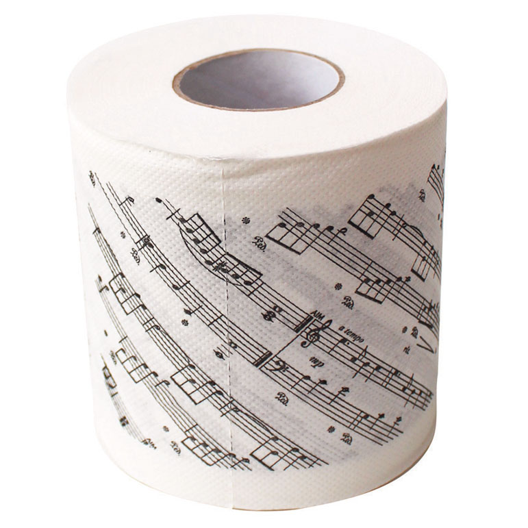 Toilet Paper Sheet Music Sparkle Gift