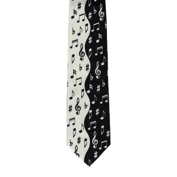 Tie Black & White Notes Sparkle Gift