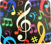 Mouse Mat Colourful Music Note Square Sparkle Gift