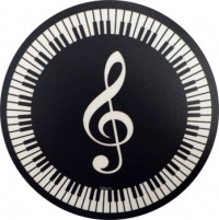 Mouse Mat Treble Clef and Keyboard Circular Sparkle Gift