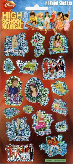 High School Musical 2 Holofoil Stickers Sparkle Gift