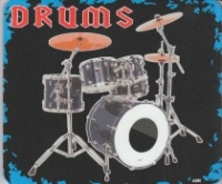 Mouse Mat Drums Design Sparkle Gift