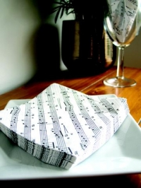 Napkins 2-ply Luncheon Napkins Notation Design Sparkle Gift