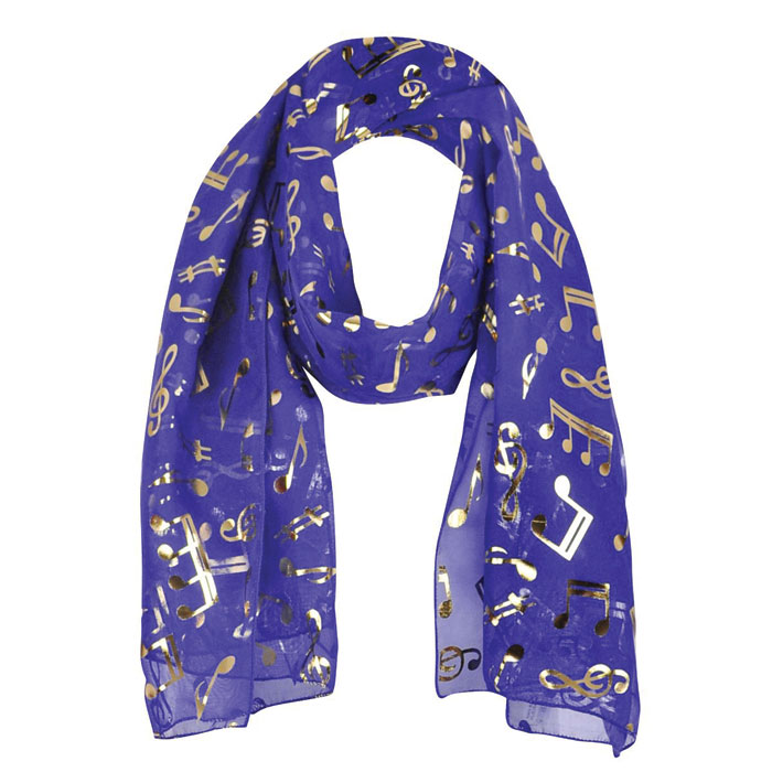 Scarf Gold Notes Purple                                      Sparkle Gift