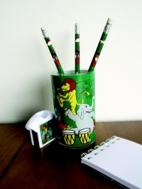 Animal Band Gift Set Beaker 3 Pencils + Sharpener Sparkle Gift