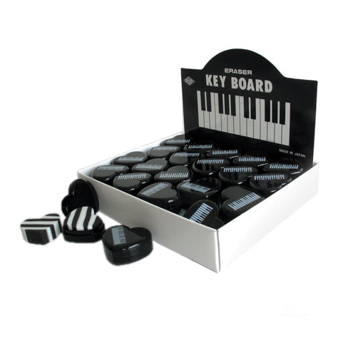 Heart Eraser Keyboard Black Pack of 40 Sparkle Gift