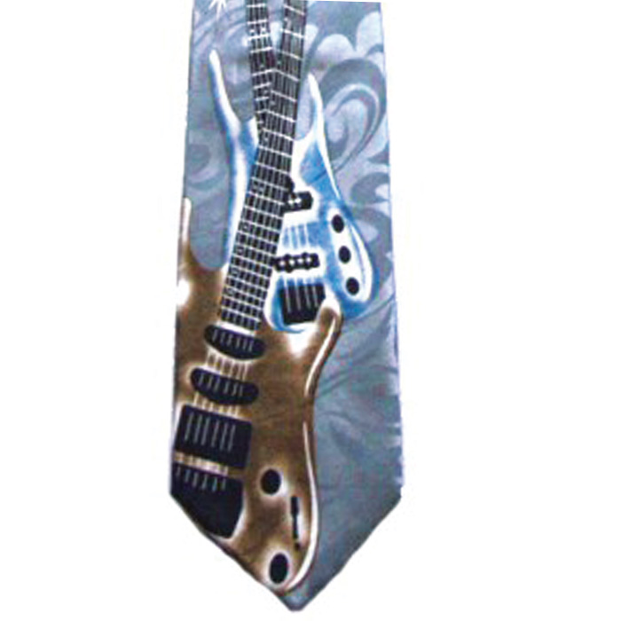 Tie Electric Guitar Polyester Sparkle Gift