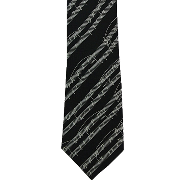 Tie Manuscript On Black Silk Sparkle Gift