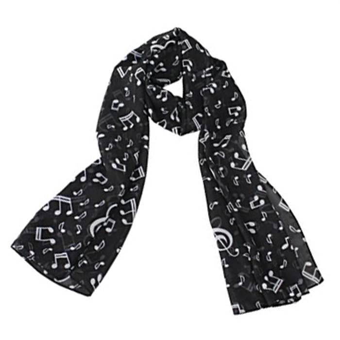Scarf Black Music Long                                      Sparkle Gift