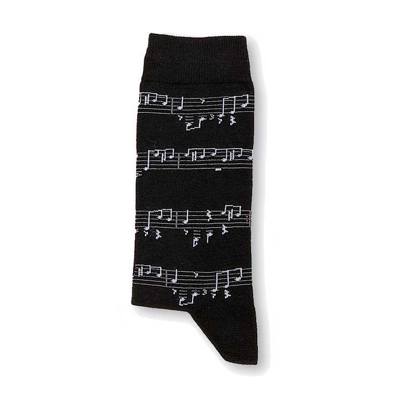 Socks Black Note Medium Sparkle Gift