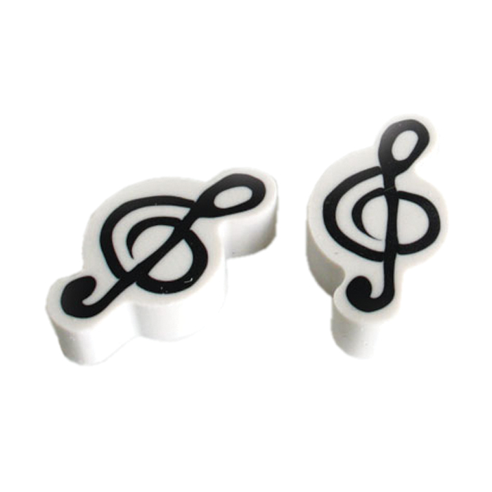 Erasers Treble Clef 2 Pack Sparkle Gift