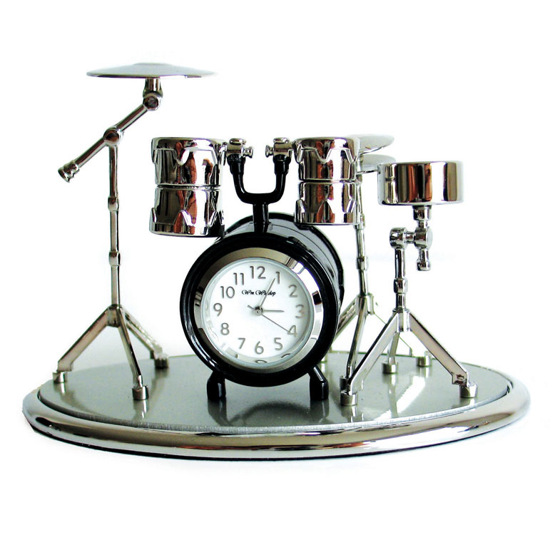 Miniature Clock Drum Set (on A Base) Sparkle Gift