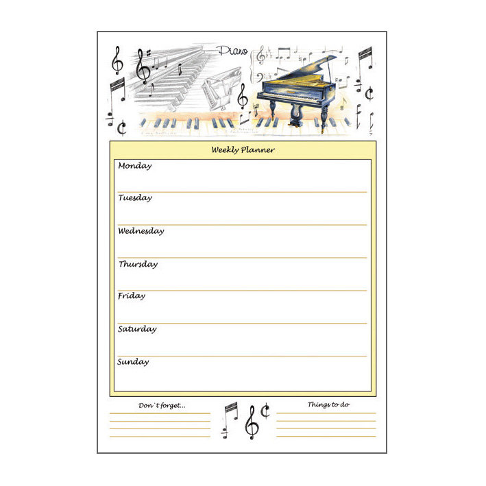 Weekly Planner Piano A4 Sparkle Gift