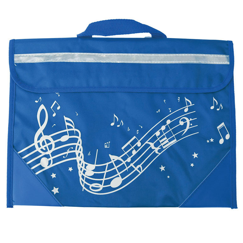 School Bag Wavy Stave Design Navy Blue Sparkle Gift