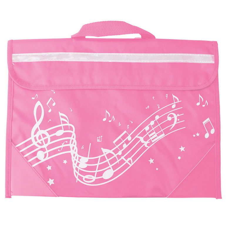School Bag Wavy Stave Design Pink Sparkle Gift