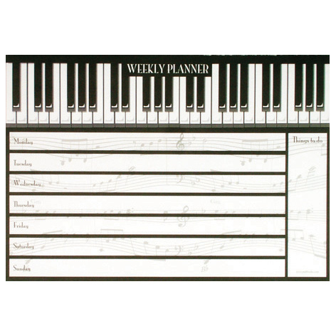 Weekly Planner Piano Keys Sparkle Gift