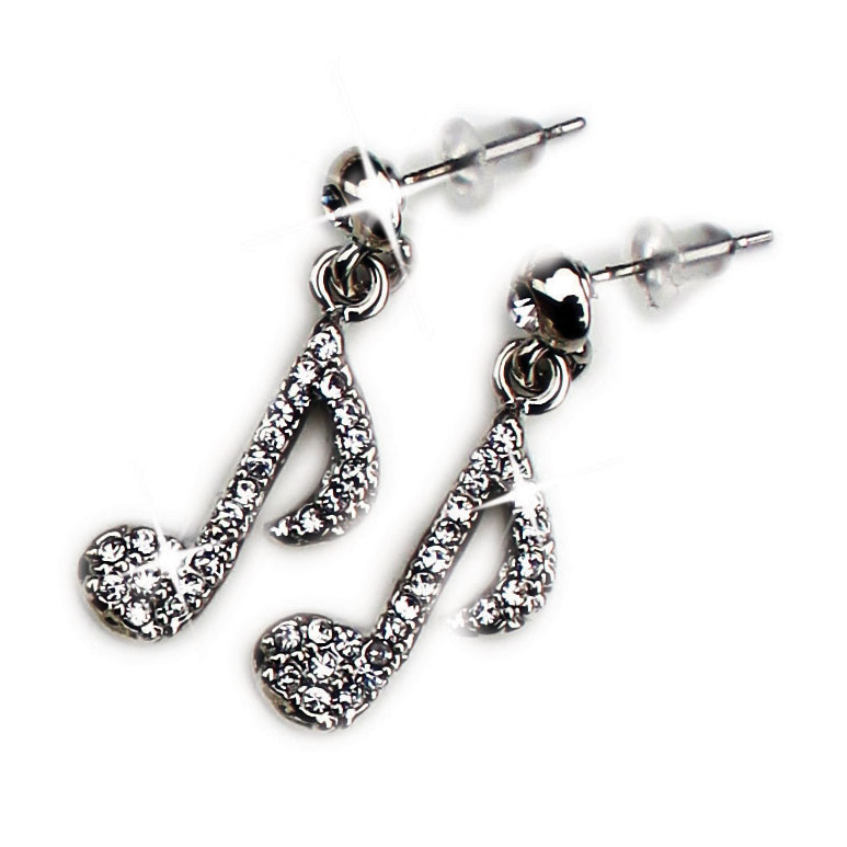 Earrings Quaver Design With Crystals Sparkle Gift
