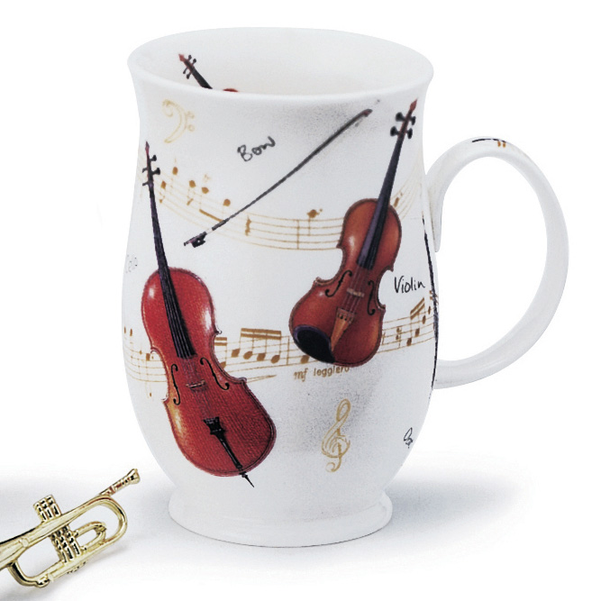 Dunoon Mug Suffolk Violin Sparkle Gift