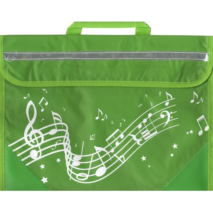 School Bag Wavy Stave Design Green Sparkle Gift