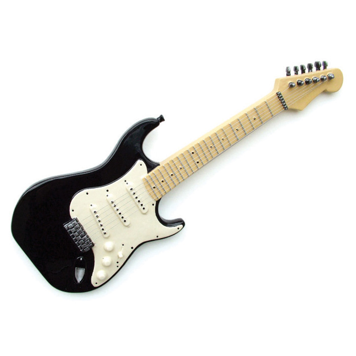 Wall Art Guitar Black Sparkle Gift