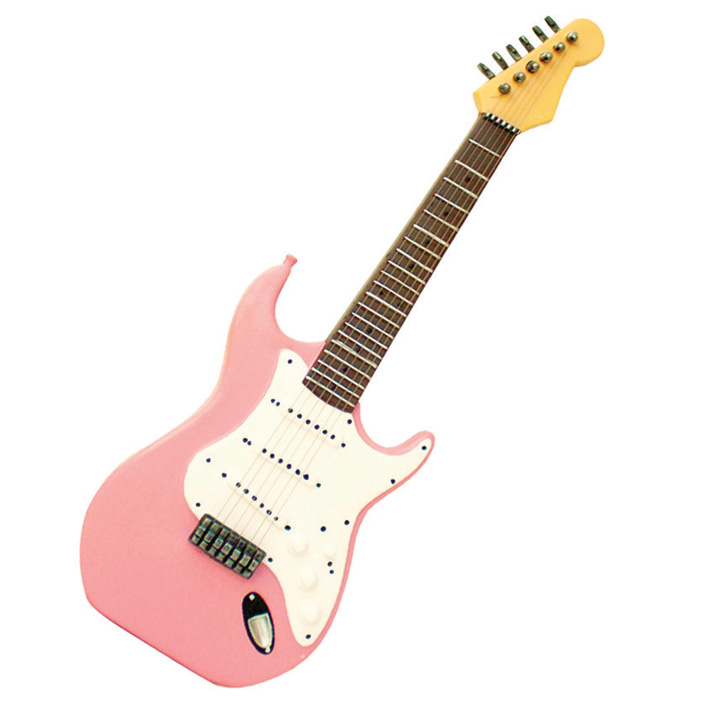 Wall Art Pink Electric Guitar Sparkle Gift