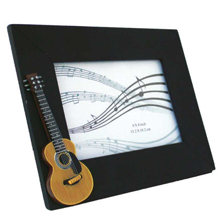 Photo Frame Acoustic Guitar Sparkle Gift