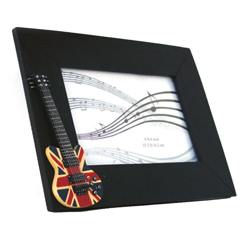 Photo Frame Union Jack Guitar 6x4 Rectangular Sparkle Gift
