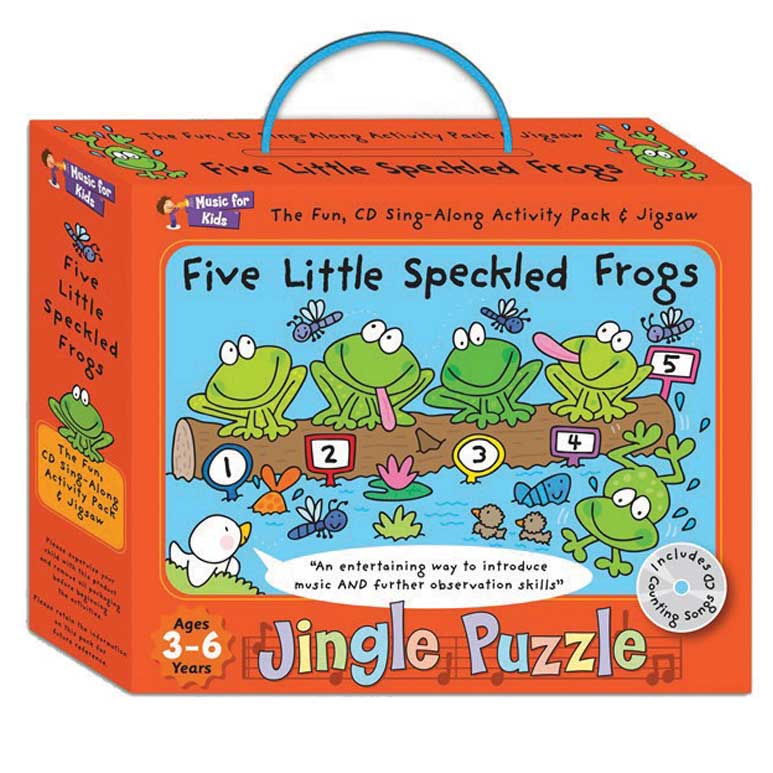 Jingle Puzzle Five Little Speckled Frogs Sparkle Gift