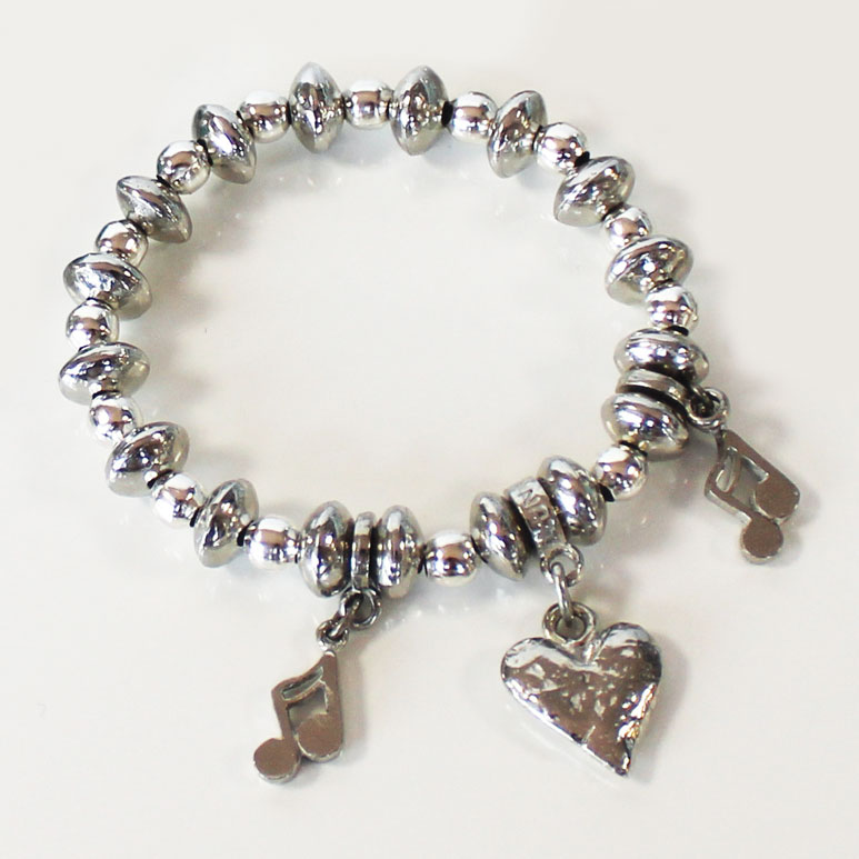 Luna London Bracelet Pewter Bead Sparkle Gift