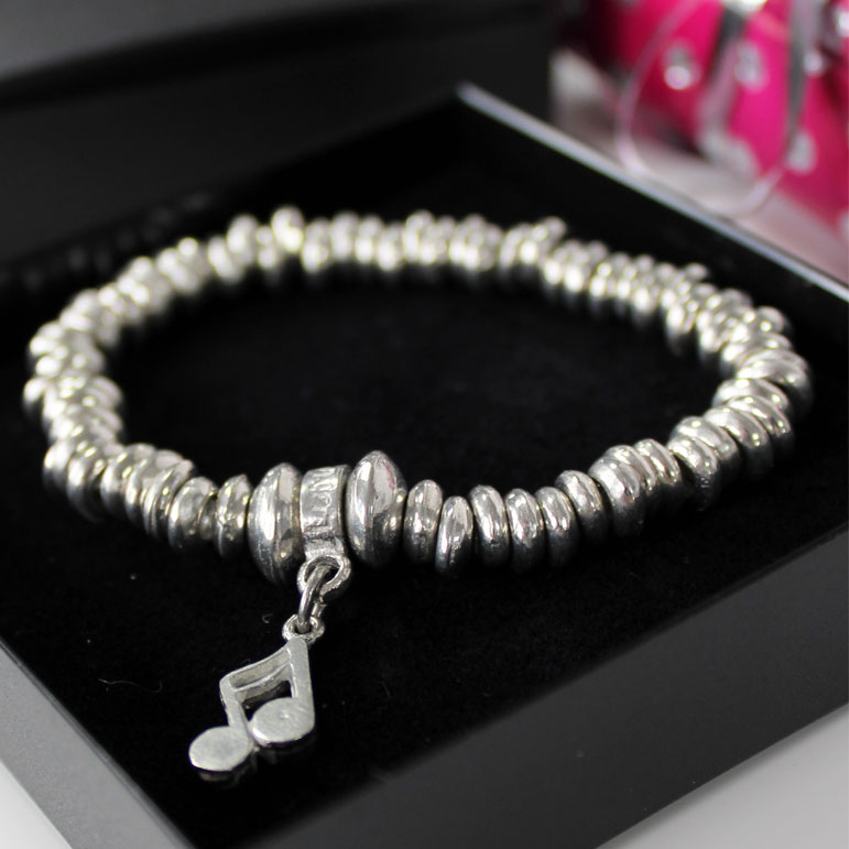 Luna London Bracelet Pewter Slinks Sparkle Gift