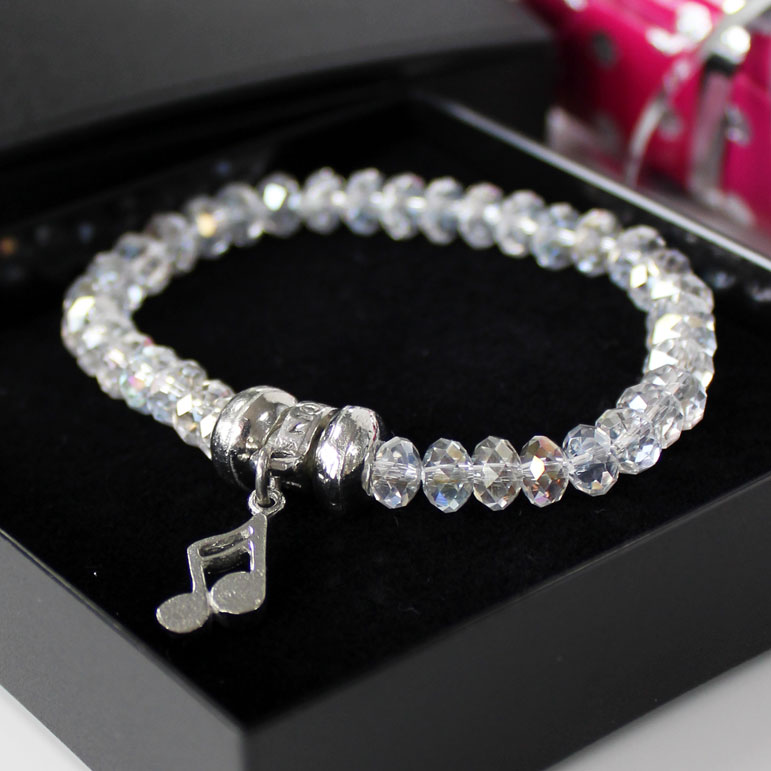 Luna London Bracelet Pewter Crystal Sparkle Gift