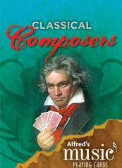 Music Playing Cards Classical Composers Pack of 12 Sparkle Gift