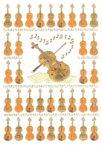 Greetings Card Violins Mac Classic Sparkle Gift