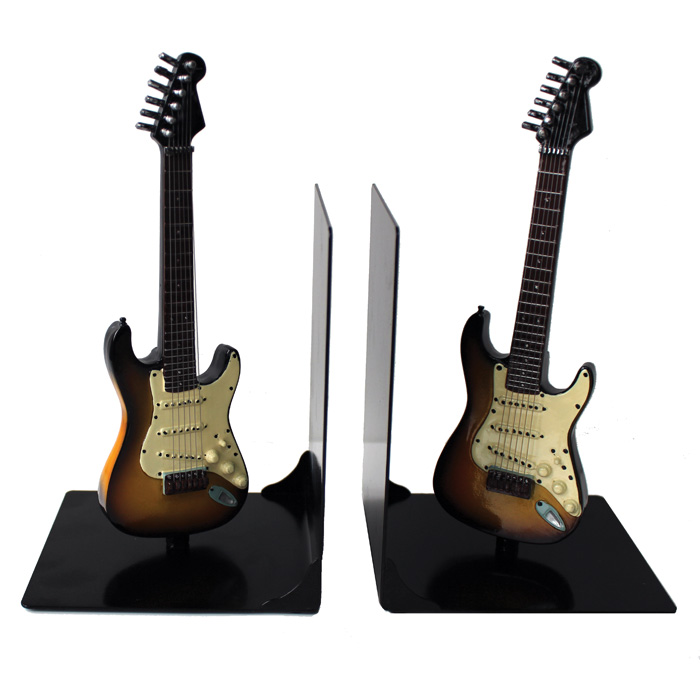 Guitar Bookends Iconic Shape Sparkle Gift