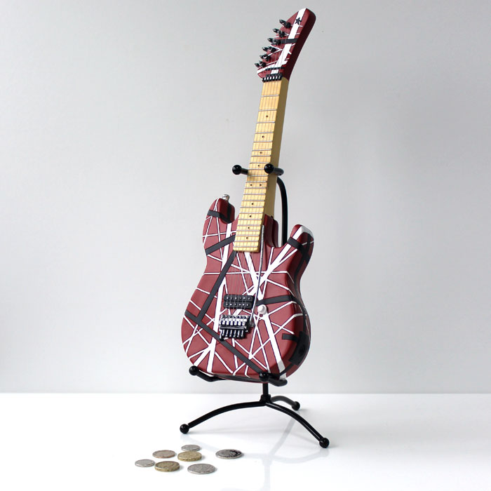 Money Box Rock Guitar Sparkle Gift