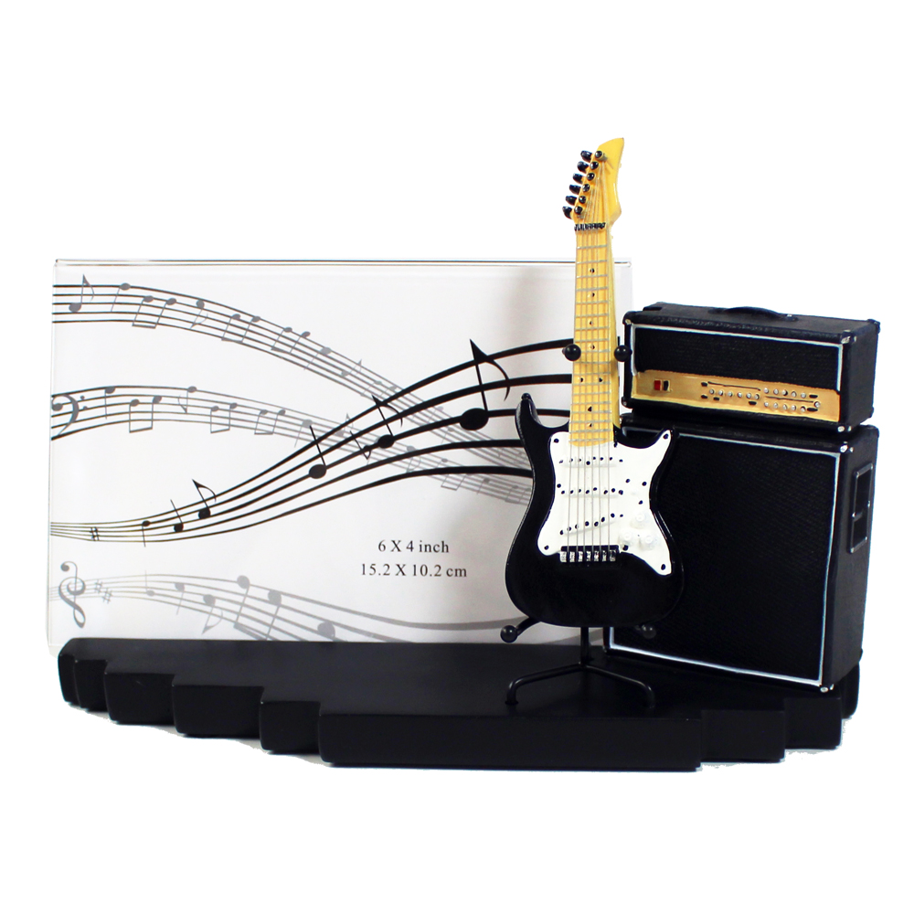 Photo Frame Amp & Guitar Iconic Sparkle Gift