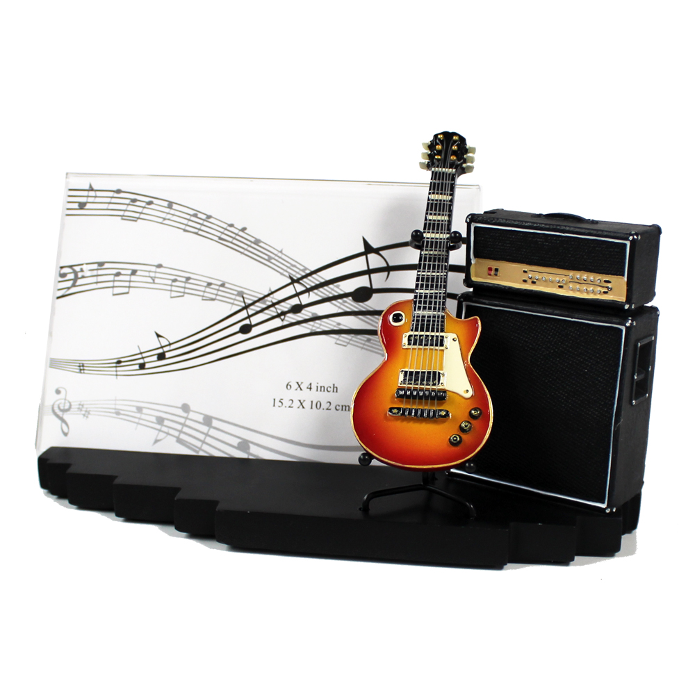 Photo Frame Amp & Guitar Vintage Sparkle Gift
