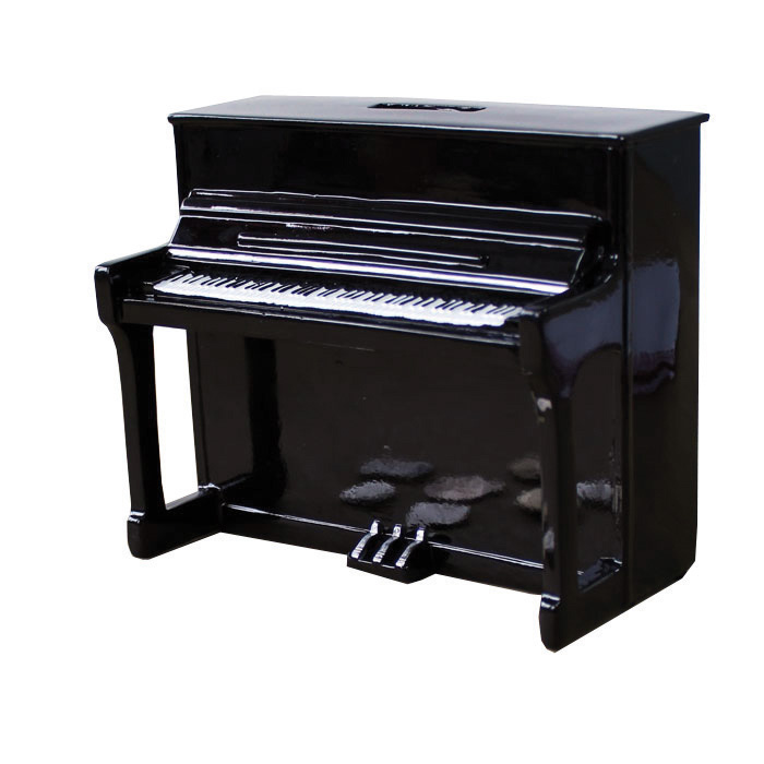 Money Box Piano Black Sparkle Gift