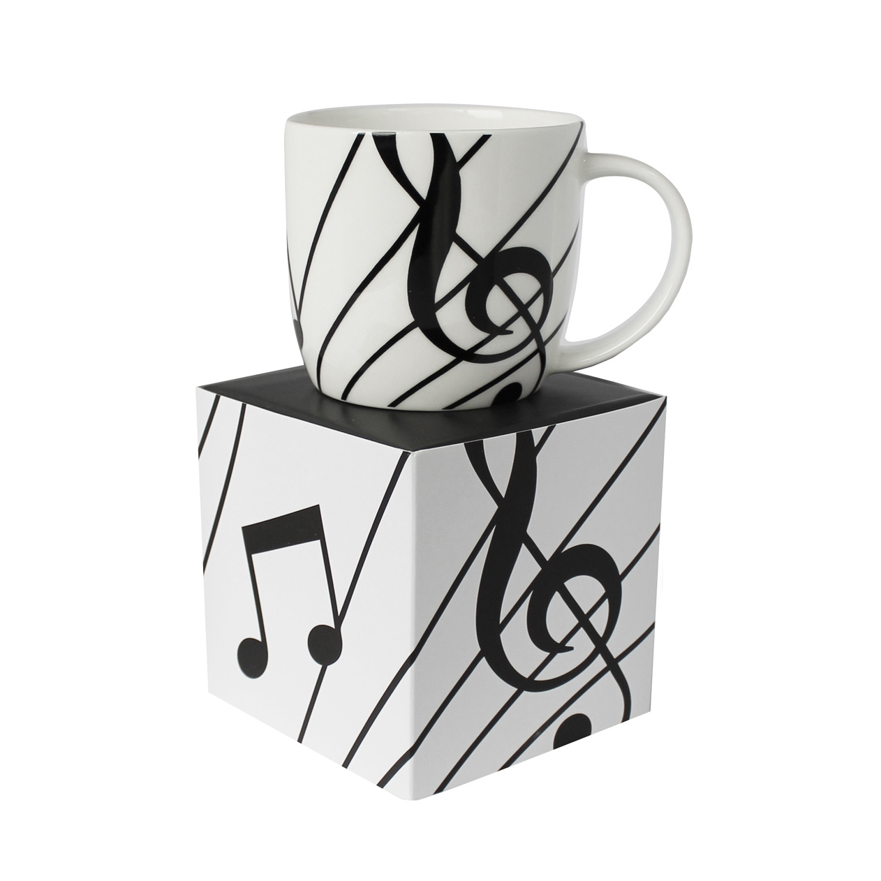 Bone China Boxed Mug Sonata White Sparkle Gift