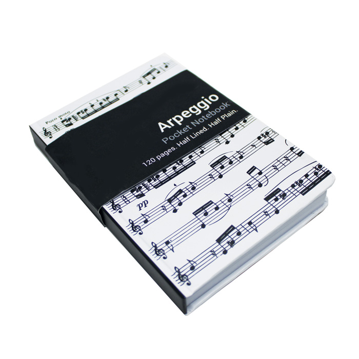 A6 Pocket Notebook Arpeggio White Sparkle Gift