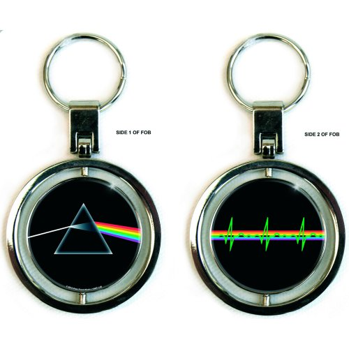 Pink Floyd Spinning Keychain Dark Side of The Moon Sparkle Gift