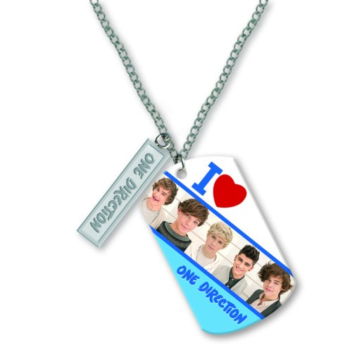 One Direction Tag Necklace 16-inch Whole Band Sparkle Gift