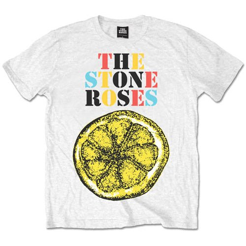 Stone Roses T Shirt Lemon Logo Mens Small Sparkle Gift