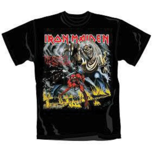 Iron Maiden T Shirt Number of The Beast Mens Lrg Sparkle Gift