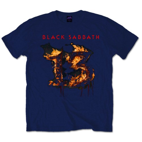 Black Sabbath T Shirt 13 Album Mens Large Sparkle Gift