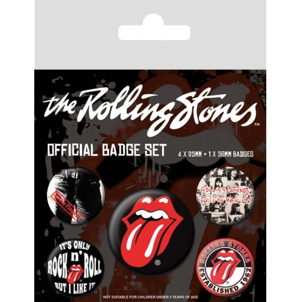 Rolling Stones Badge Pack Classic Set of 5                   Sparkle Gift